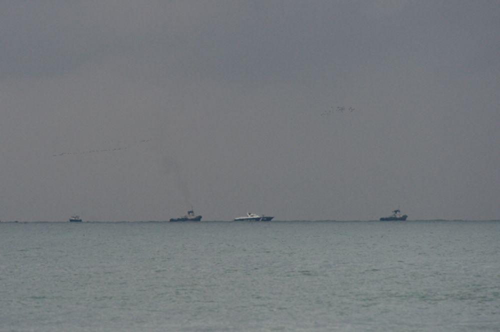 Поисково-спасательные работы в Чёрном море.