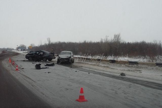 В Оренбургском районе около Подгорной Покровки произошло ДТП