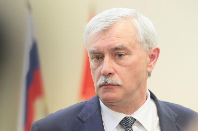 Полтавченко назвал неактуальным объединение Петербурга иЛенобласти