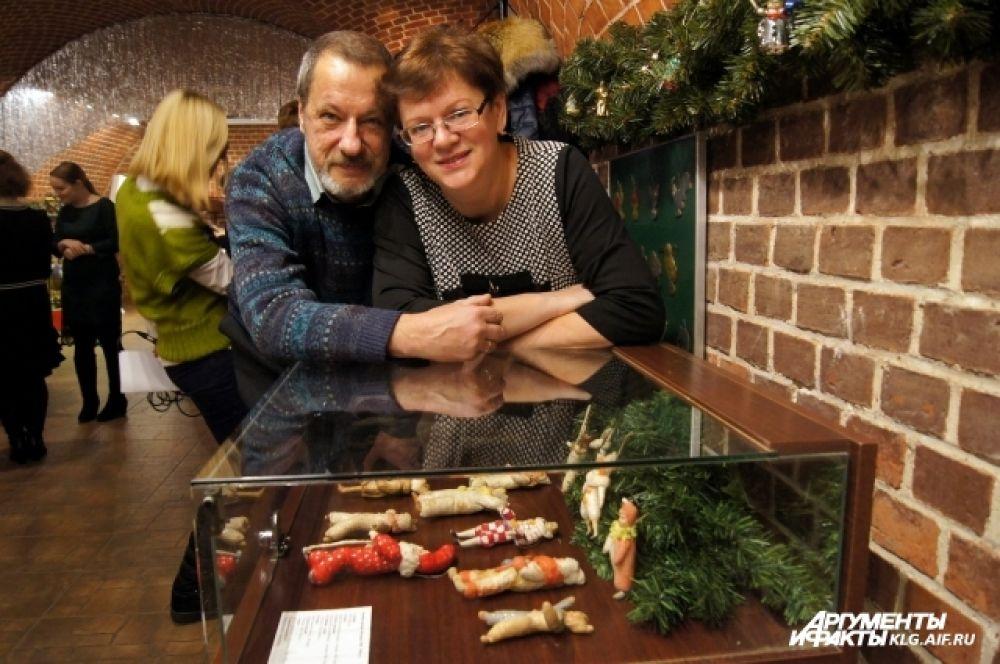 Лилия Гневко-Левко с мужем, вдохновившем ее на создание коллекции.