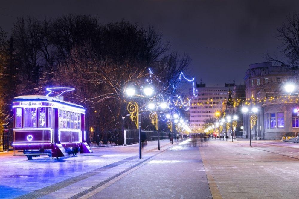 Новая пешеходная улица Волжская