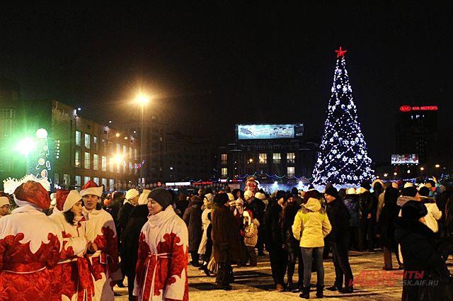В центре города 31 декабря планируются народные гуляния