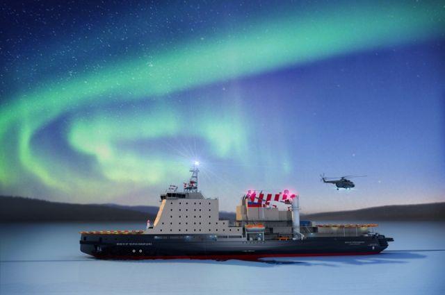 В Санкт-Петербурге спустили на воду ледокол «Виктор Черномырдин»