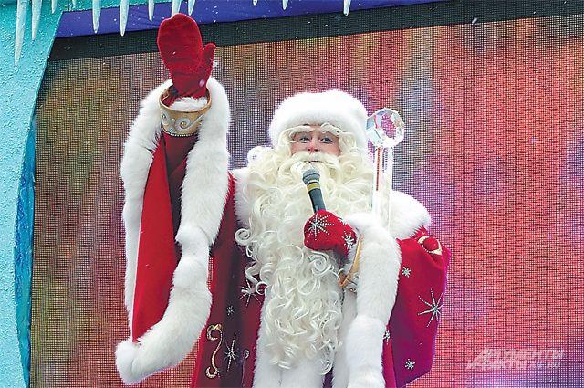 дед мороз прибыл новогоднюю столицу россии