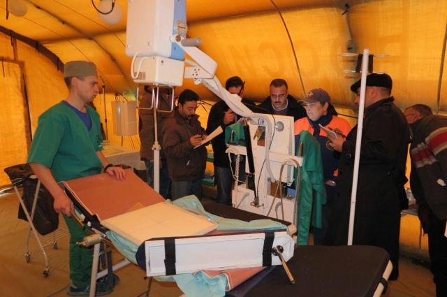 МЧС попоручению В. Путина подарило Сирии аэромобильный госпиталь