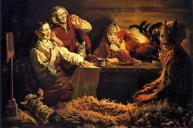 Гадание с петухом - одно из популярных святочных гаданий на Руси.