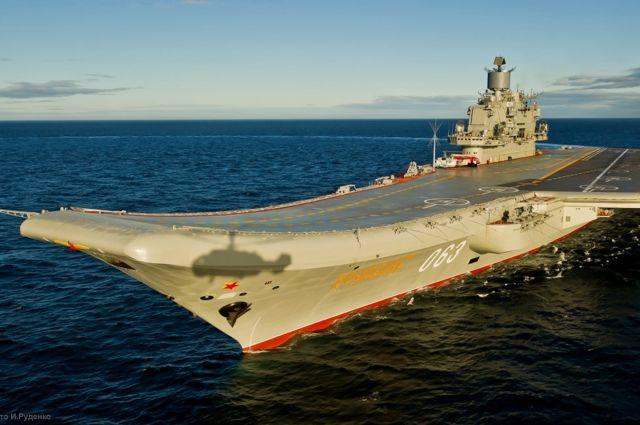 Минобороны РФ опубликовало кадры работы авиации «Адмирала Кузнецова»
