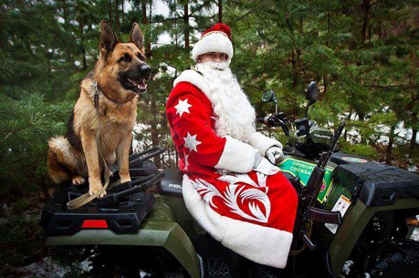 В зоне военных действий тоже есть свои Деды Морозы