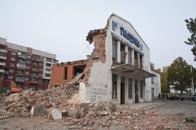 Здание снесли практически полностью.