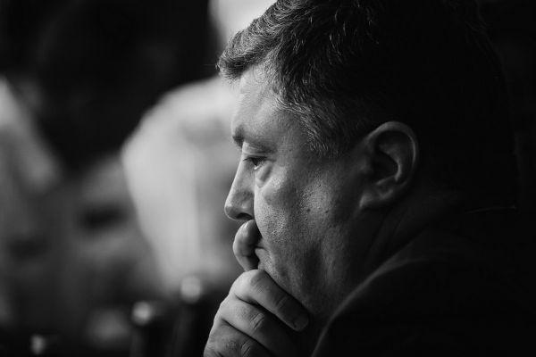 Президент Украины - Петр Порошенко тоже иногда бывает задумчивым