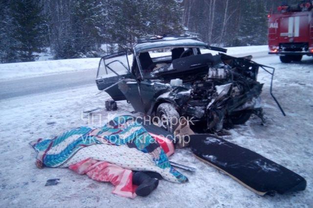 ВДТП натрассе Красноярск-Ачинск погибли два человека