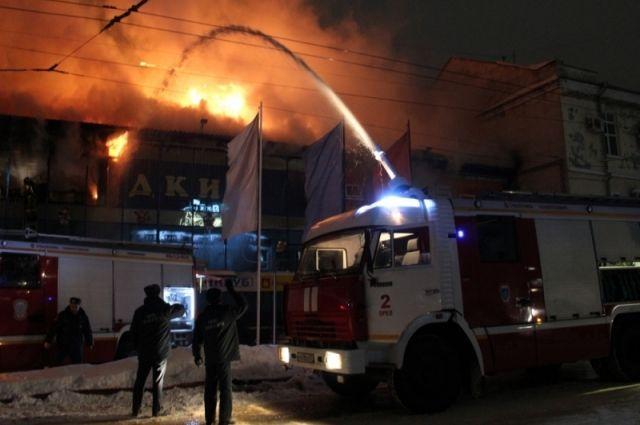 В коммерческом центре вОрле произошёл пожар
