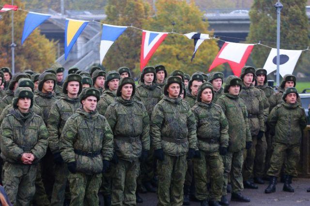 Новобранцы Балтийского флота приняли военную присягу.