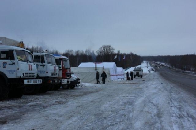 95 человек воспользовались мобильным пунктом обогрева натрассе вКстовском районе