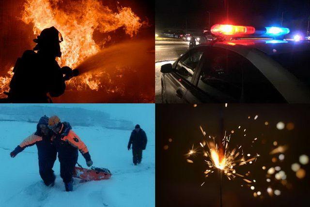 Медики, полицейские, пожарные беспокойно провели январские каникулы.