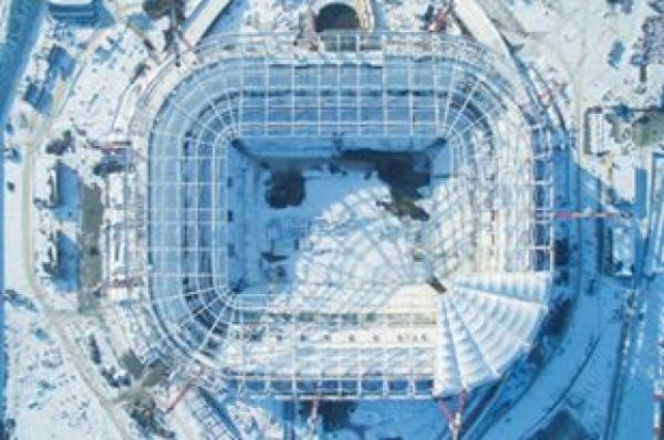Строительство «Ростов-Арены» идёт полным ходом, а по некоторым позициям - даже с опережением графика.