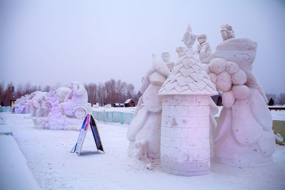 «Слон-Balloon» команды «Пермские посекунчики» заняла 2 место в номинации «Снег».