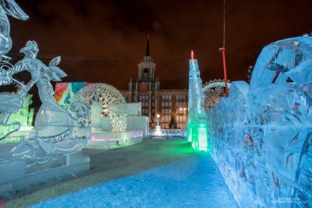 Ледовый городок на площади 1905 года пустым был лишь один раз - в ночь после открытия.