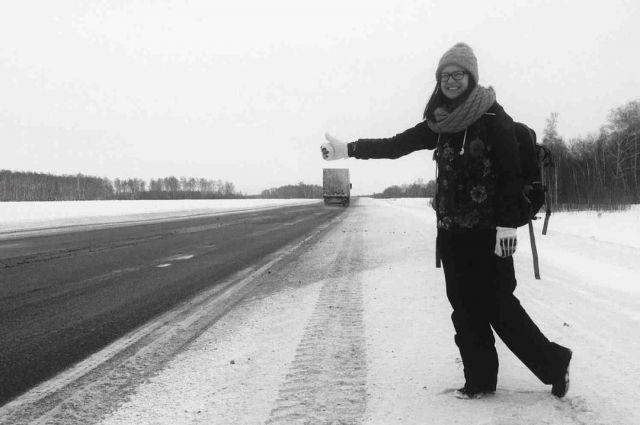Конечной целью автостопщицы стал Красноярск.