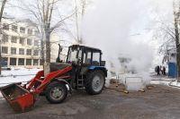 Работы на тепловых сетях близ дома № 64 по ул. Володарского проводили без отключения тепла в квартирах.