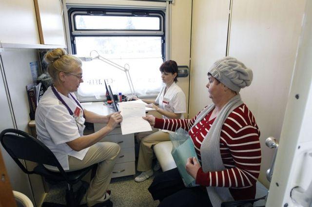 Поезд здоровья едет на север Красноярского края.