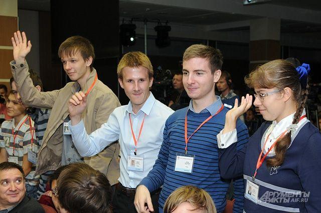 Школьники собрались на олимпиаду