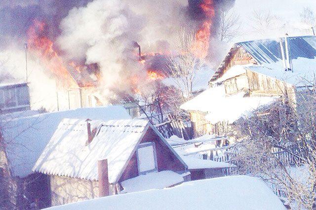 Две семьи остались без крова над головой после пожара.