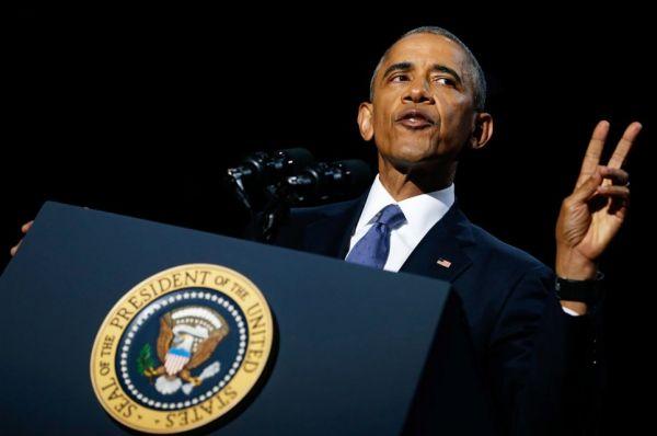 Обама ближе к концу своего выступления в Чикаго сказал, что он вместе с американцами смогли и еще смогут. Кроме этого он поблагодарил всех за поддержку и пожелал, чтобы Господь оберегал Америку и ее людей дальше