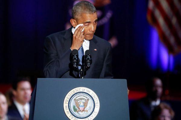 Когда президент говорил о своей жене, он даже прослезился