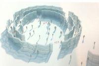 Вот так будет выглядеть ледяная библиотека чудес на Байкале.
