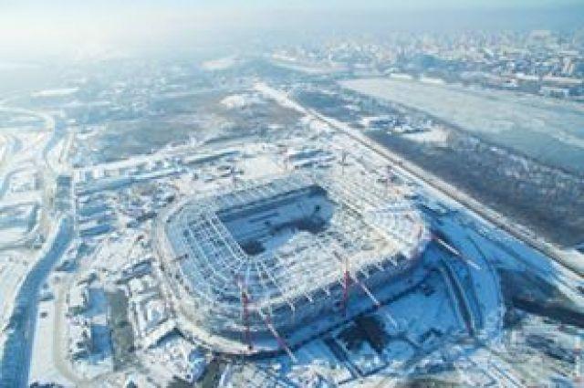 Настадионе «Ростов-Арена» завершили устройство нижнего слоя футбольного поля