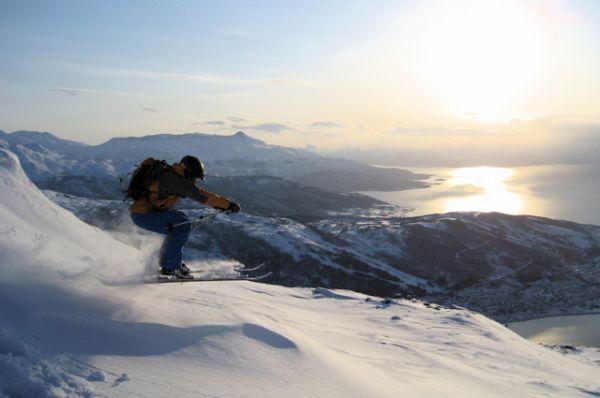 Телемарк. Катание на специальных лыжах, базирующееся на естественном для человека движении — шаге. Крепления для телемарка существенно отличаются от горнолыжного, они «намертво» прикрепляют к лыже лишь носок (рант) ботинка, оставляя пятку свободной.