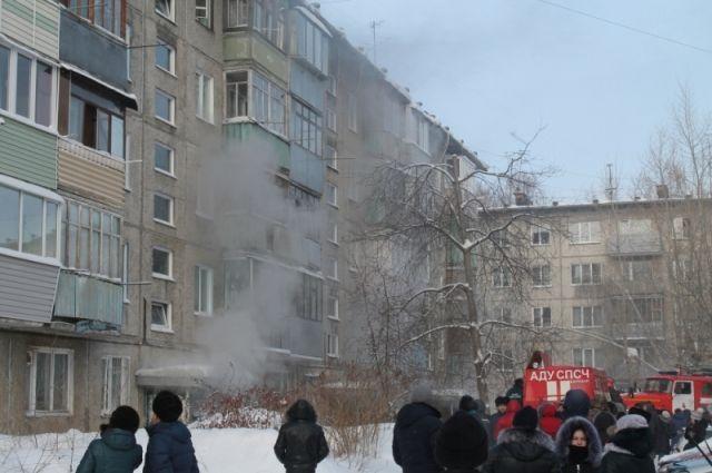 ВБарнауле наулице Попова загорелась пятиэтажка