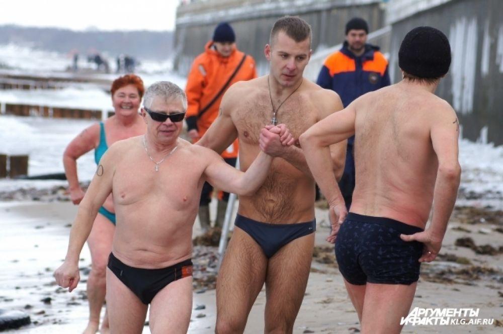 Участники экстремального триатлона.