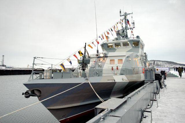 Новый противодиверсионный катер Северного флота