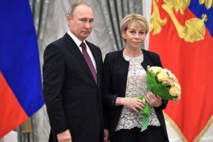 Елизавета Глинка с президентом РФ Владимиром Путиным