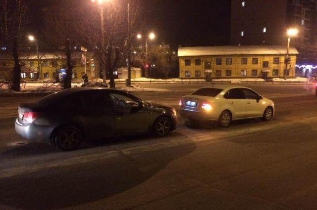 ВДТП с 2-мя иномарками вСоветском районе пострадала женщина