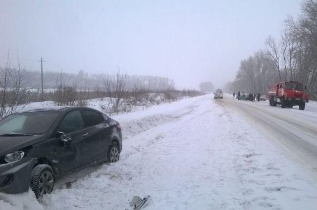 Под Воронежем пенсионерка погибла встолкновении 2-х легковых автомобилей
