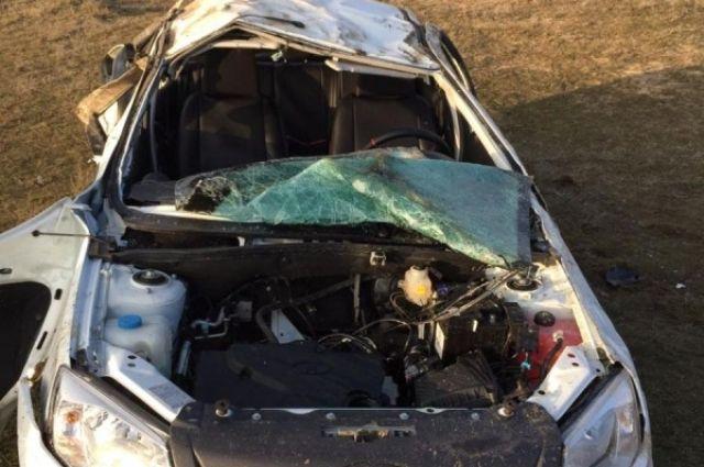 Автоледи на«Ладе» погибла после опрокидывания авто наСтаврополье