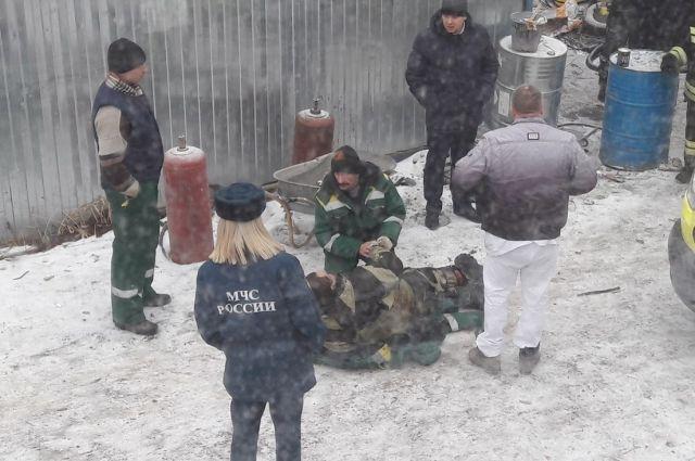 Один человек пострадал при взрыве газового баллона намосту вВолгограде