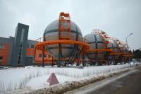 Вид на здания Национального исследовательского центра «Курчатовский институт» в Москве.