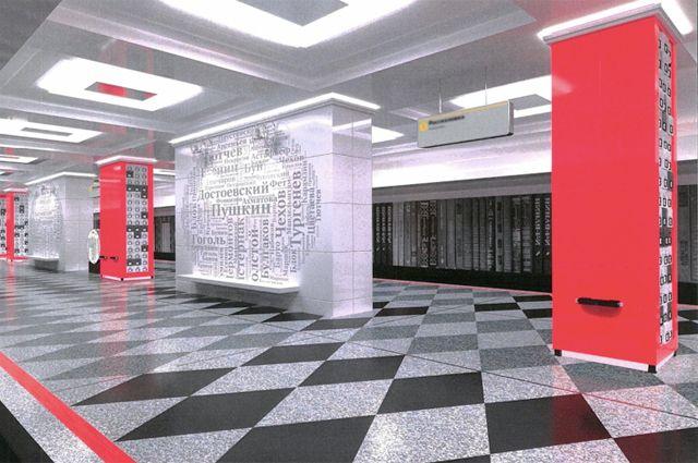 Проект станции метро «Рассказовка».