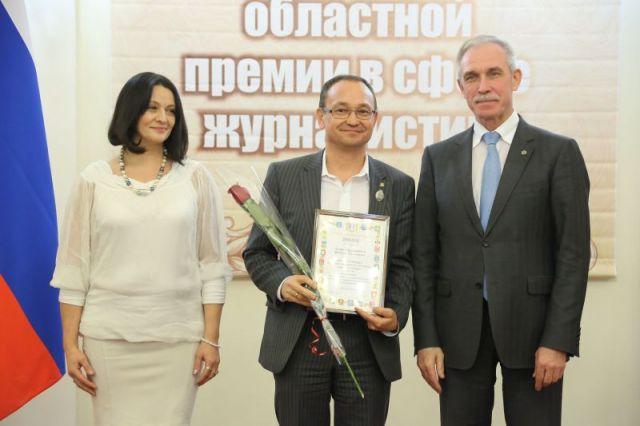 Председателю Совета директоров медиахолдинга «Мозаика» Р.М.Гатауллину вручен диплом для редакции «АиФ в Ульяновске»