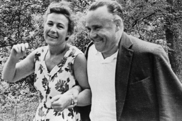 Сергей Павлович Королев с женой Ниной Ивановной. 1961 г.