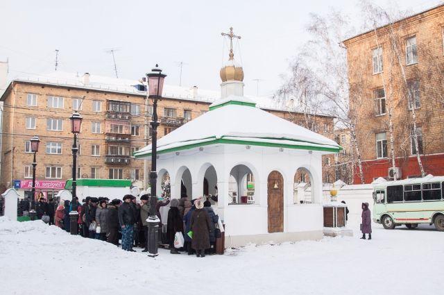 В дни празднования Крещения Господня более 40 тысяч горожан посещают храмы.