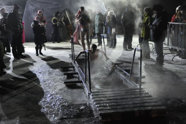 Крещенские купания в Чите.