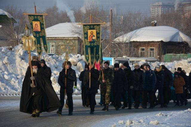 Крестный ход в Барнауле