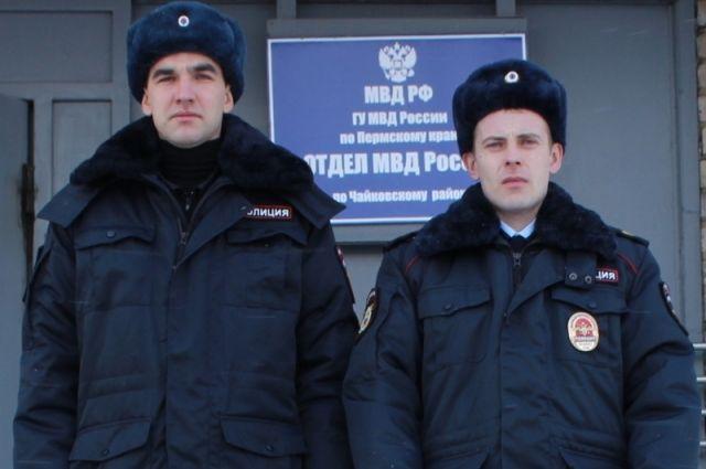 Прикамские полицейские спасли напожаре пенсионерку