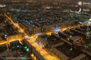 Гигапиксельная панорама столицы Среднего Урала, январь 2017