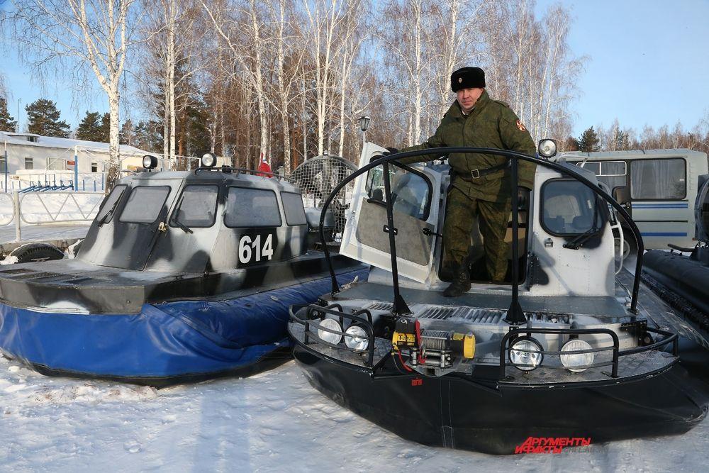 """Катера на воздушной подушке """"Хивус-10"""" выполняют задачи по охране зоны в любое время года."""